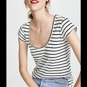 Theory navigate stripped t-shirt